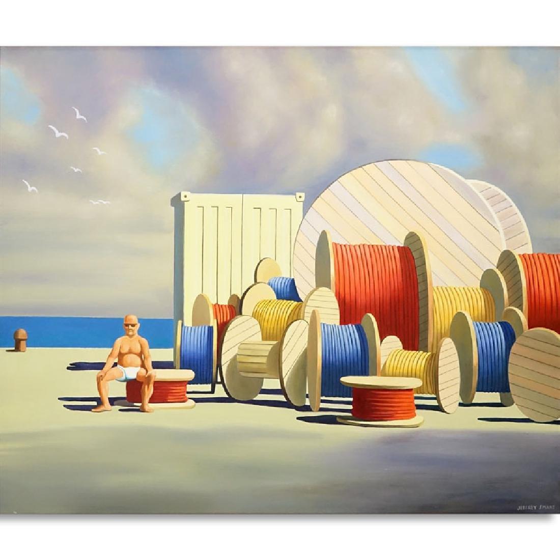 After: Jeffrey Smart, Australian (1921-2013) Oil on