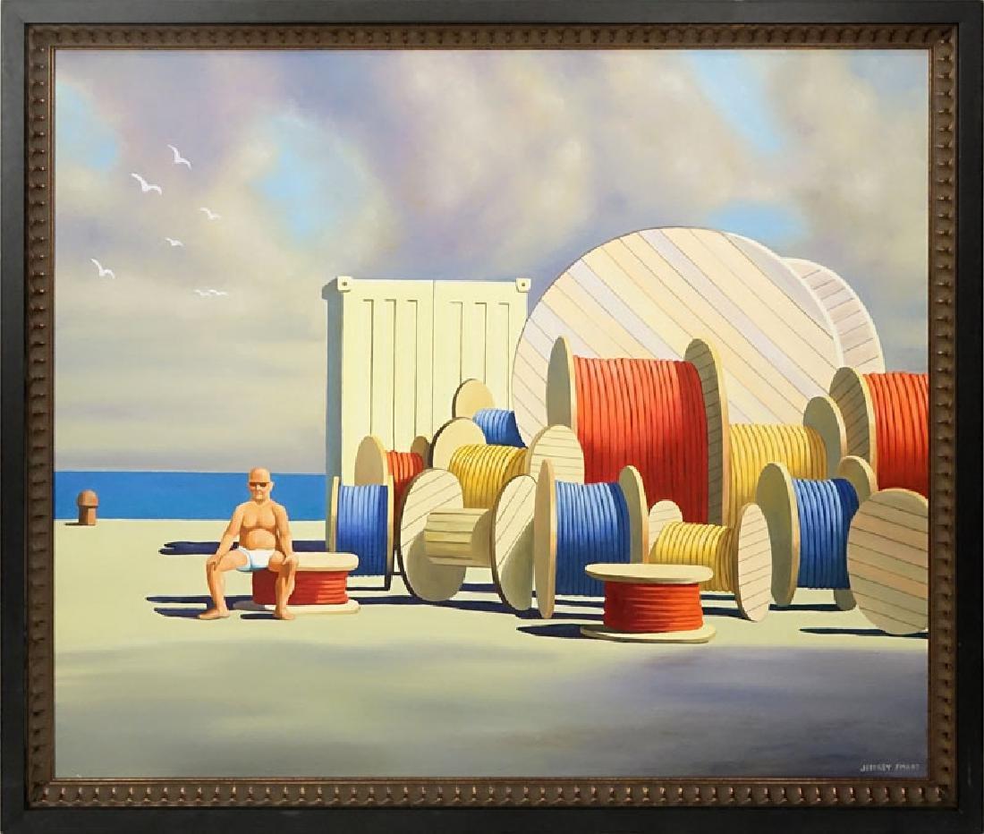 After: Jeffrey Smart, Australian (1921-2013) Oil on - 2