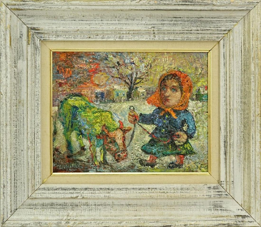 "David Burliuk, Ukrainian/American (1882- 1967) ""Woman - 2"