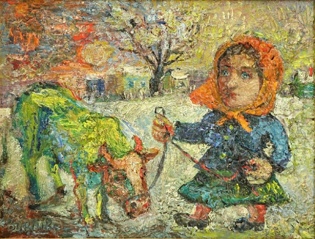"David Burliuk, Ukrainian/American (1882- 1967) ""Woman - 3"