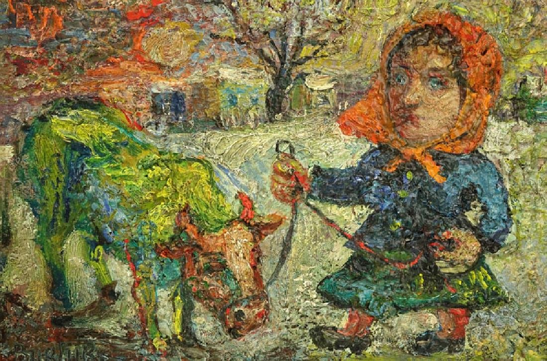 "David Burliuk, Ukrainian/American (1882- 1967) ""Woman - 5"