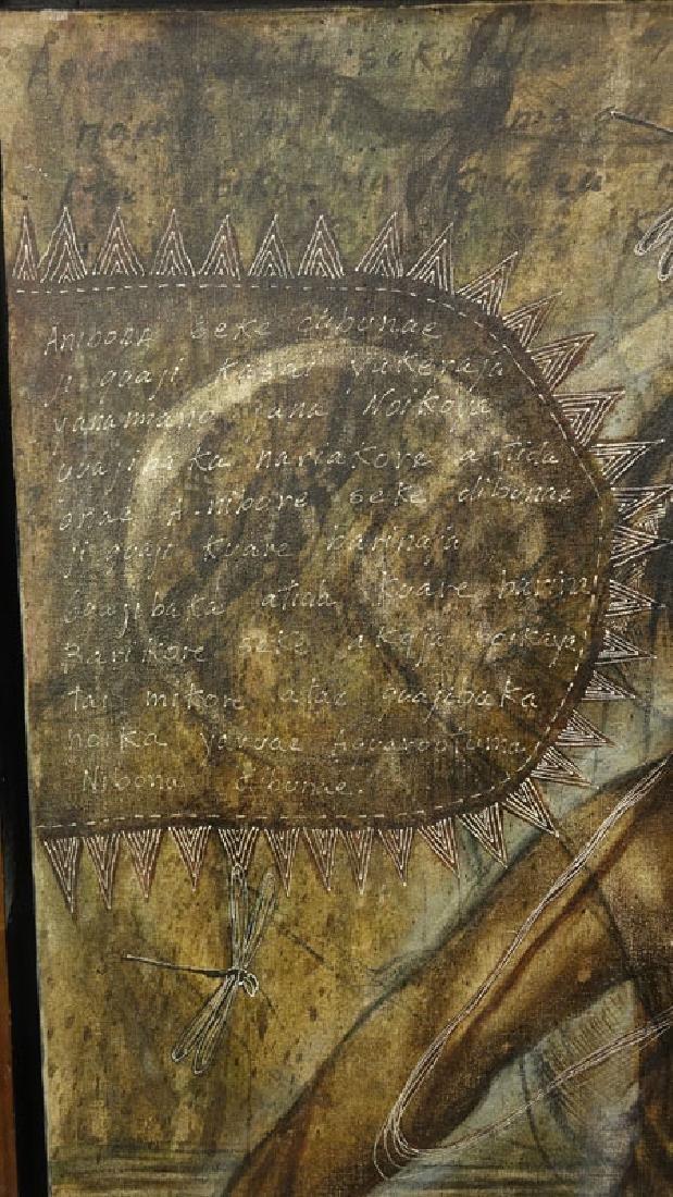 "Toribio, Venezuelan (20th C.) Oil on Canvas ""Primitive - 4"