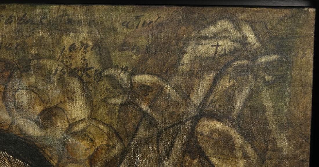 "Toribio, Venezuelan (20th C.) Oil on Canvas ""Primitive - 5"