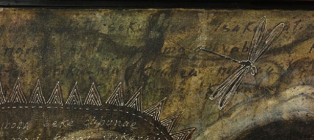 "Toribio, Venezuelan (20th C.) Oil on Canvas ""Primitive - 6"