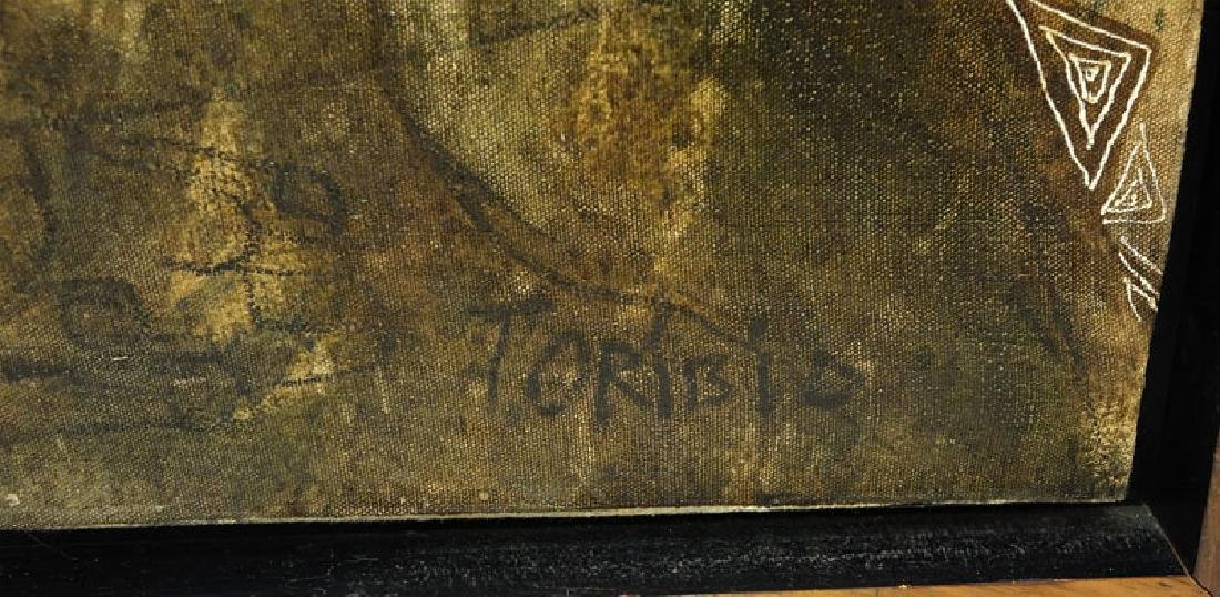 "Toribio, Venezuelan (20th C.) Oil on Canvas ""Primitive - 7"