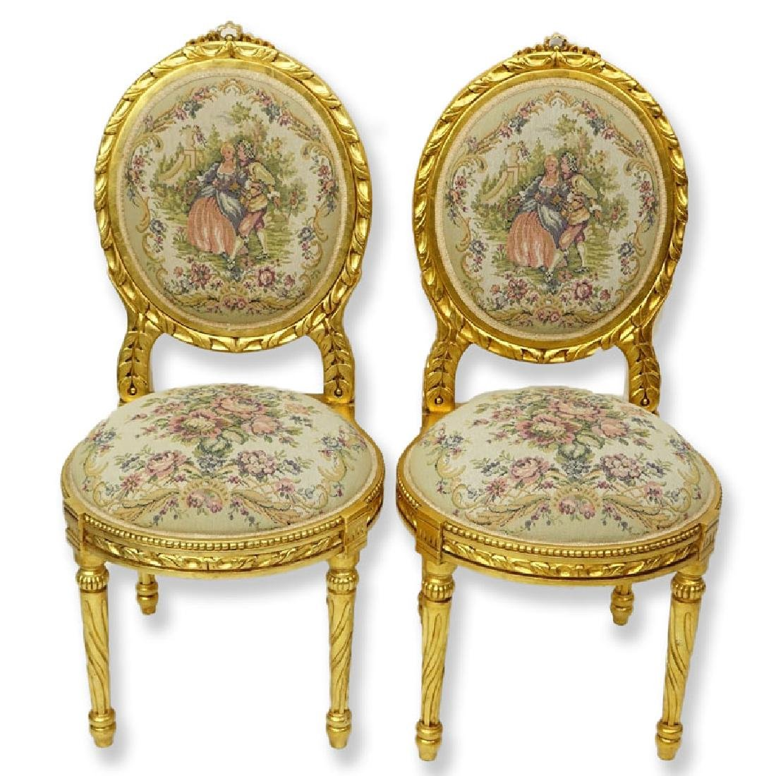 Pair of 20th Century Louis XVI Style Giltwood and