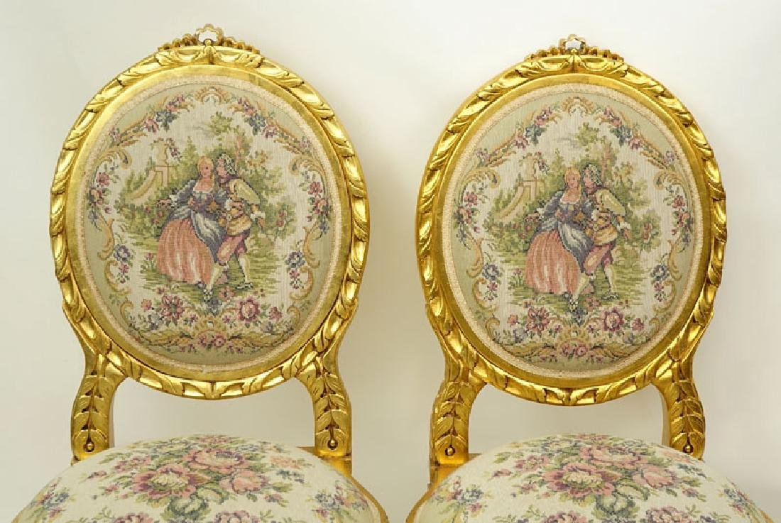Pair of 20th Century Louis XVI Style Giltwood and - 2
