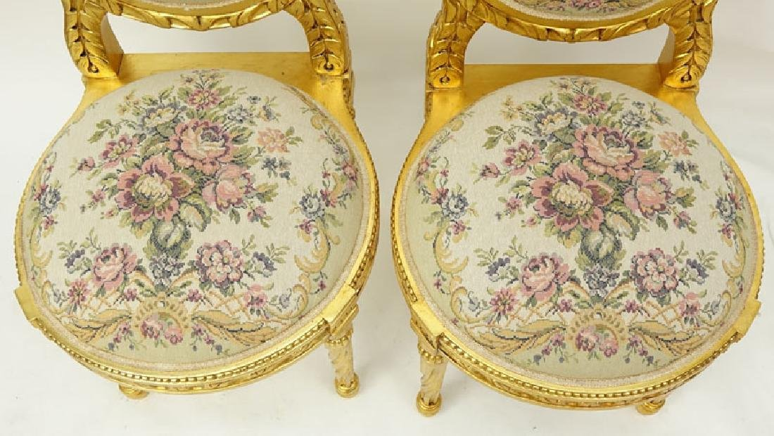 Pair of 20th Century Louis XVI Style Giltwood and - 3
