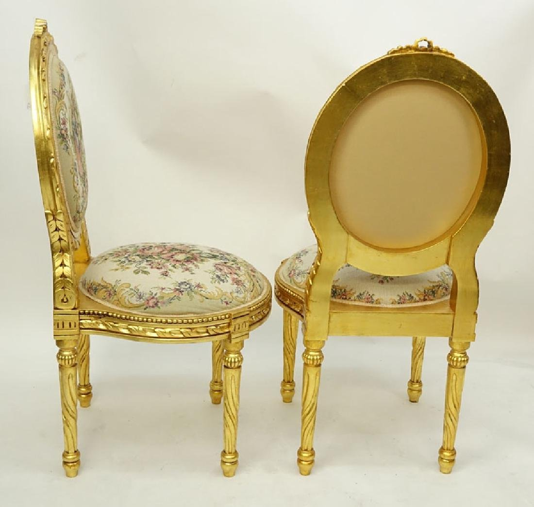 Pair of 20th Century Louis XVI Style Giltwood and - 4