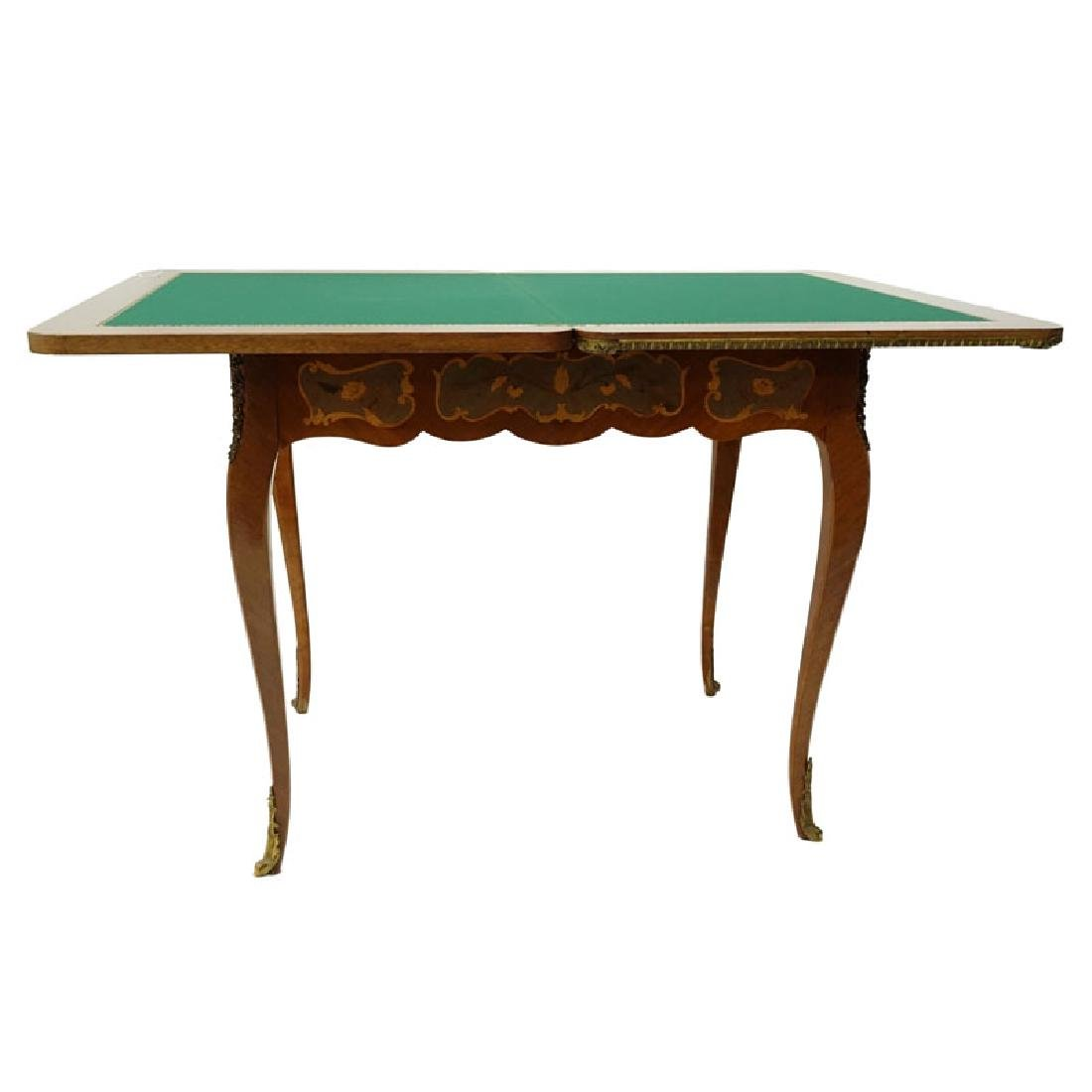 Mid Century Italian Inlaid and Gilt Brass Mounted Game - 2