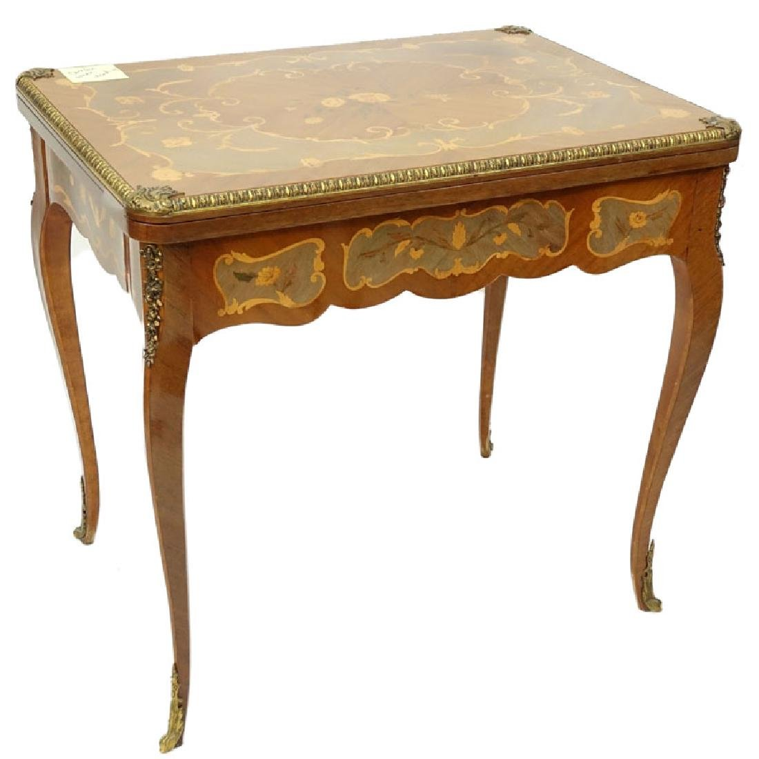 Mid Century Italian Inlaid and Gilt Brass Mounted Game - 4
