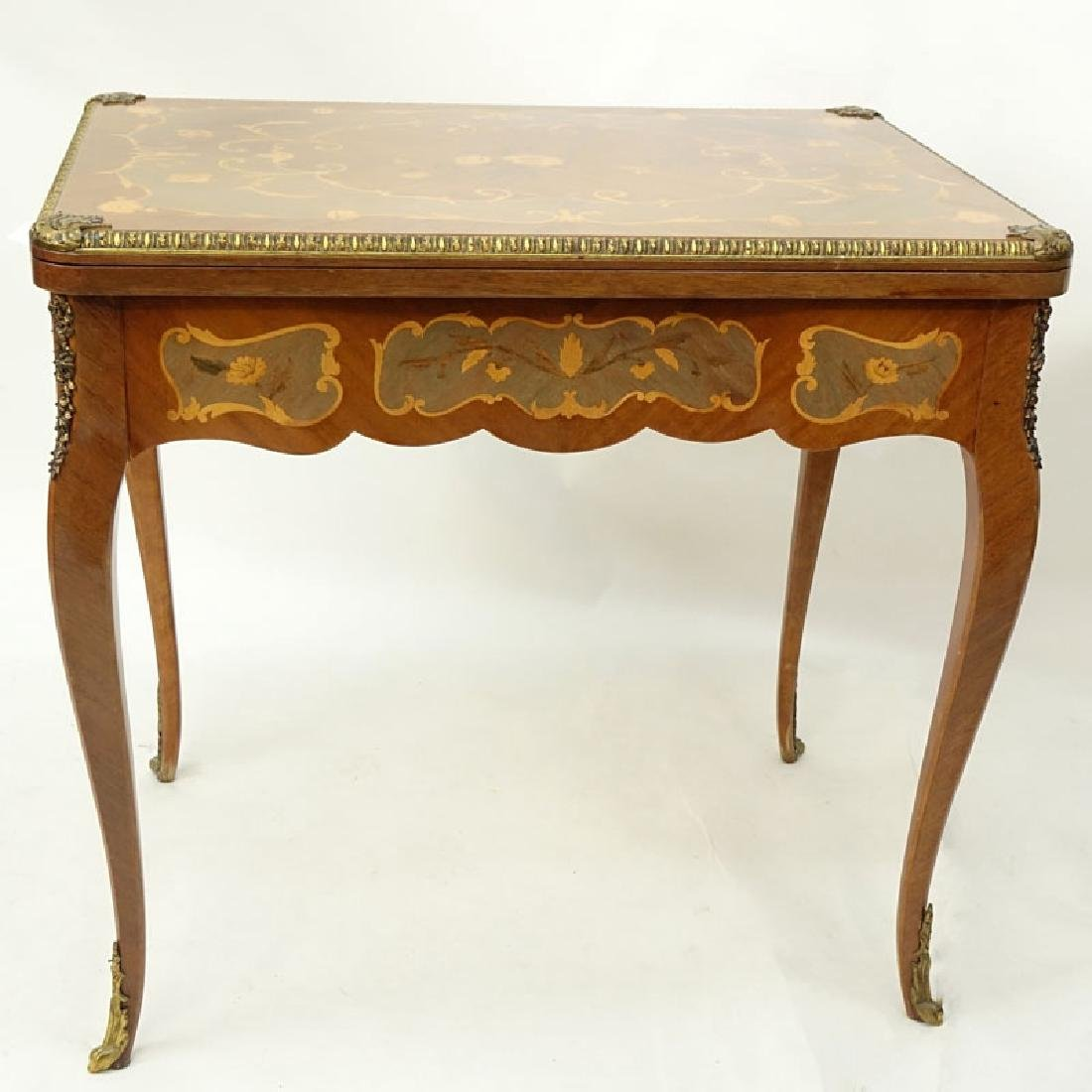 Mid Century Italian Inlaid and Gilt Brass Mounted Game - 5