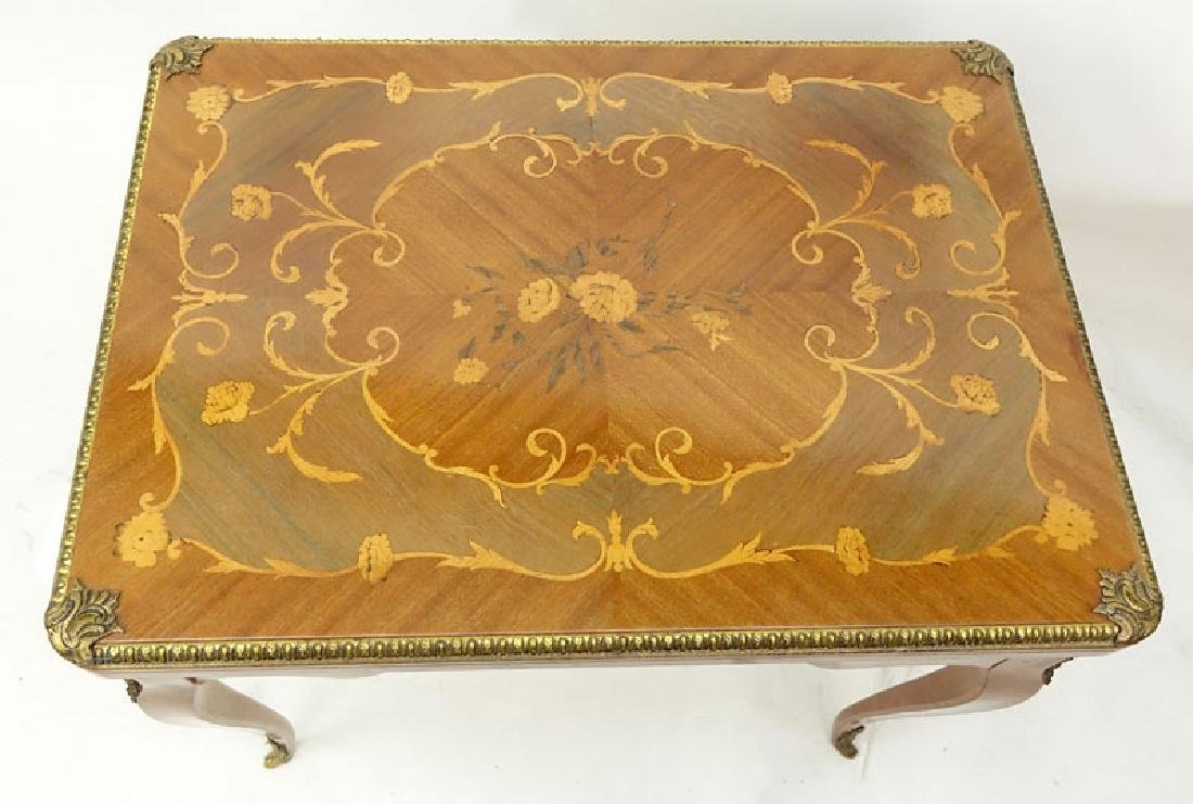 Mid Century Italian Inlaid and Gilt Brass Mounted Game - 6