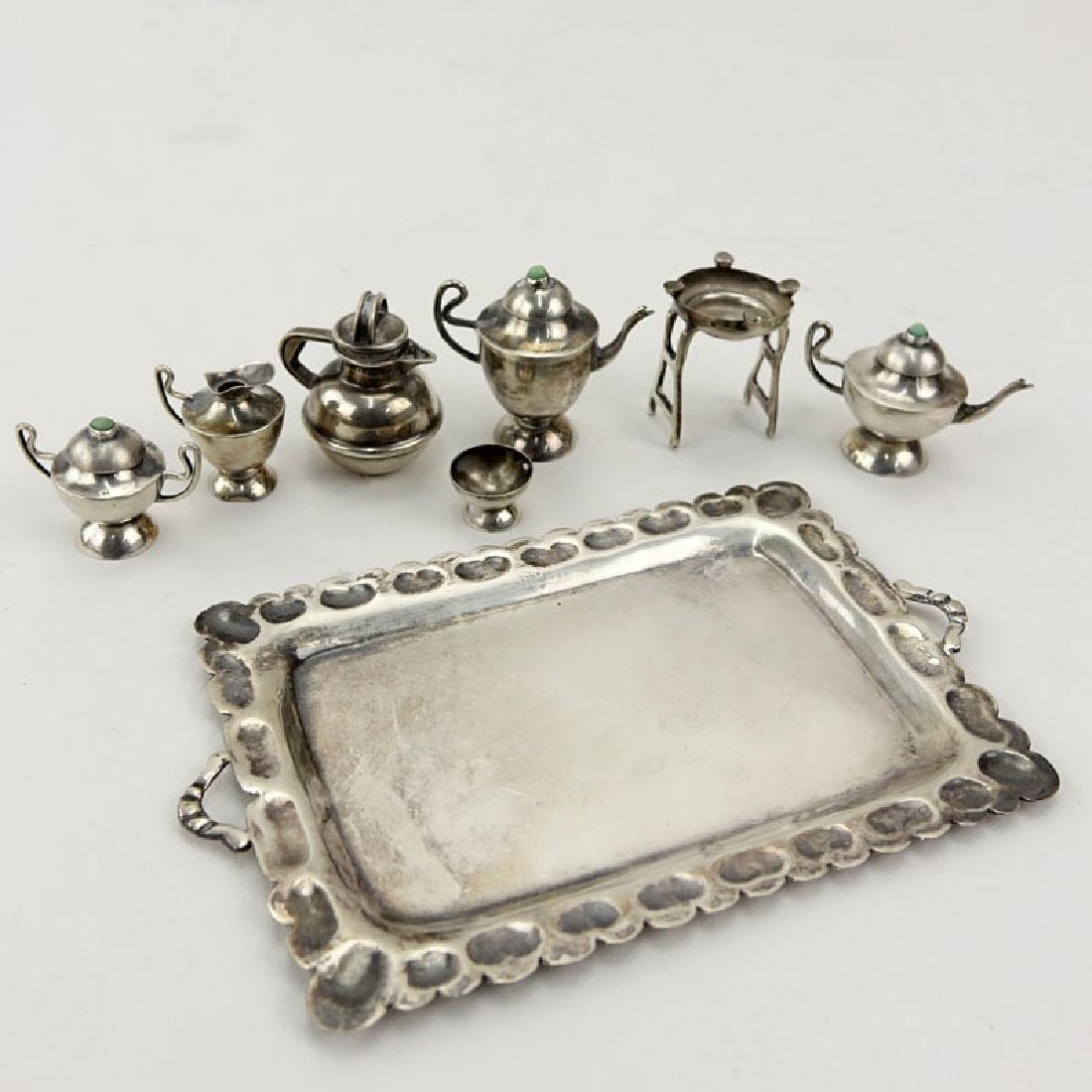 Eight (8) Piece Miniature Mexican Sterling Silver