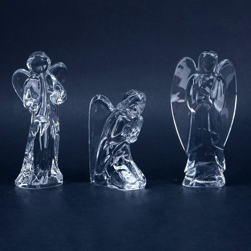 Collection of Three (3) Baccarat Crystal Figurines.