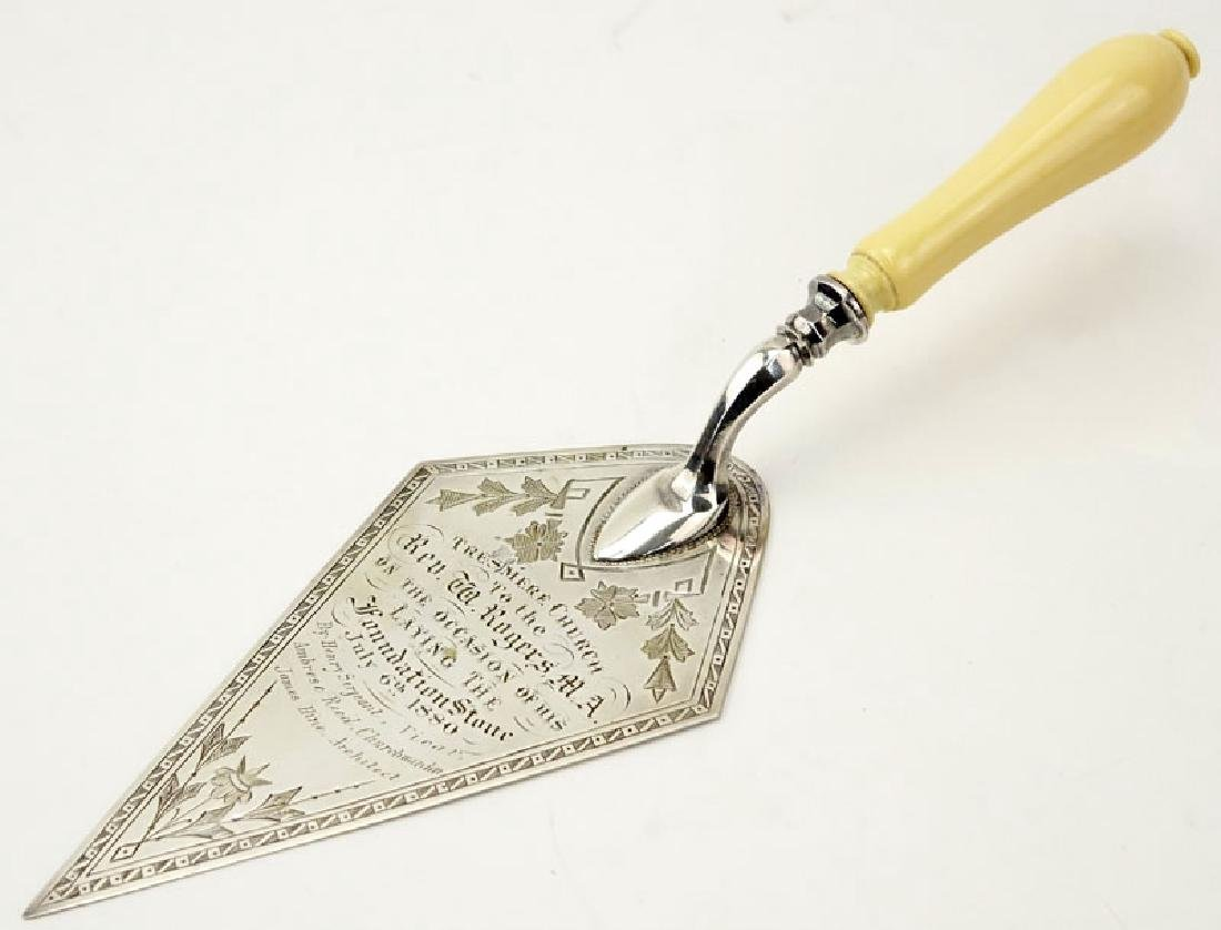 Ivory and Sterling Silver Tresmere Commemorative Trowel - 7