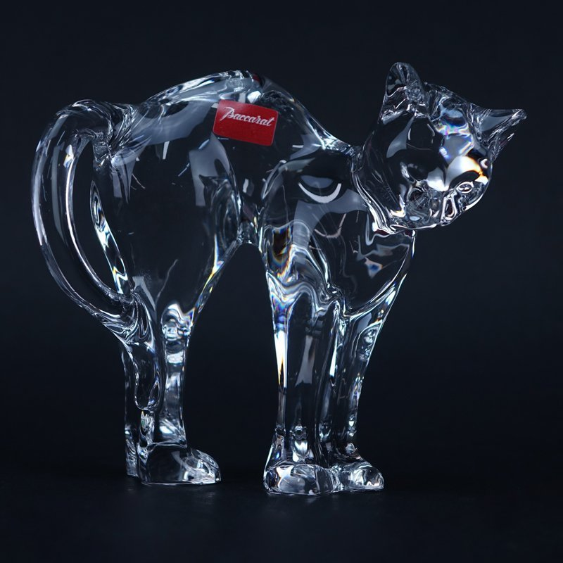 "Baccarat Crystal ""Standing Cat"" Figurine. Signed and"