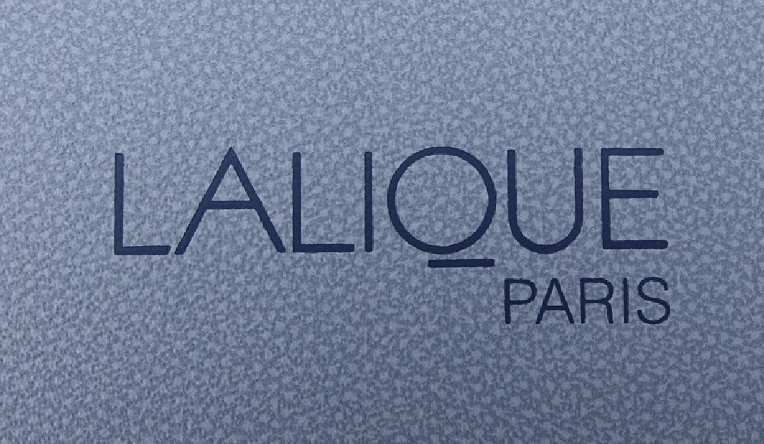 "Lalique Crystal ""Fantasia"" Vase In Box. Signed, - 5"