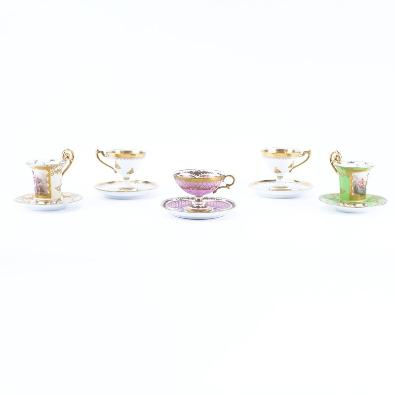 Grouping of Five (5) Antique Sevres and German