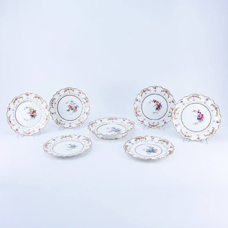 Antique Crescent & Sons Seven (7) Piece Porcelain