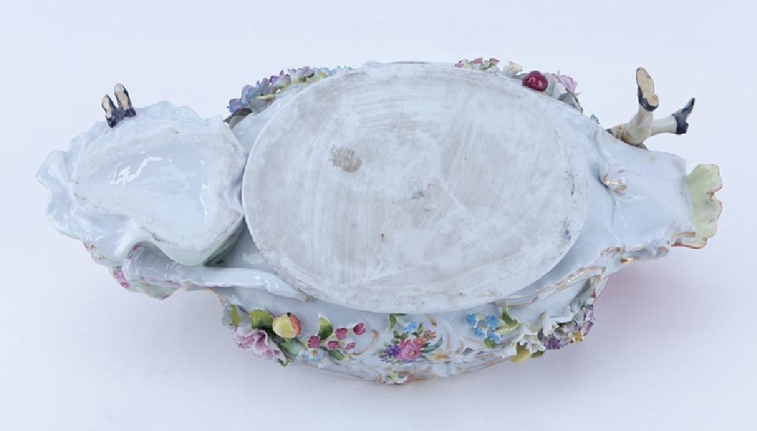 Vintage Dresden Porcelain Figural Centerpiece. Signed. - 3