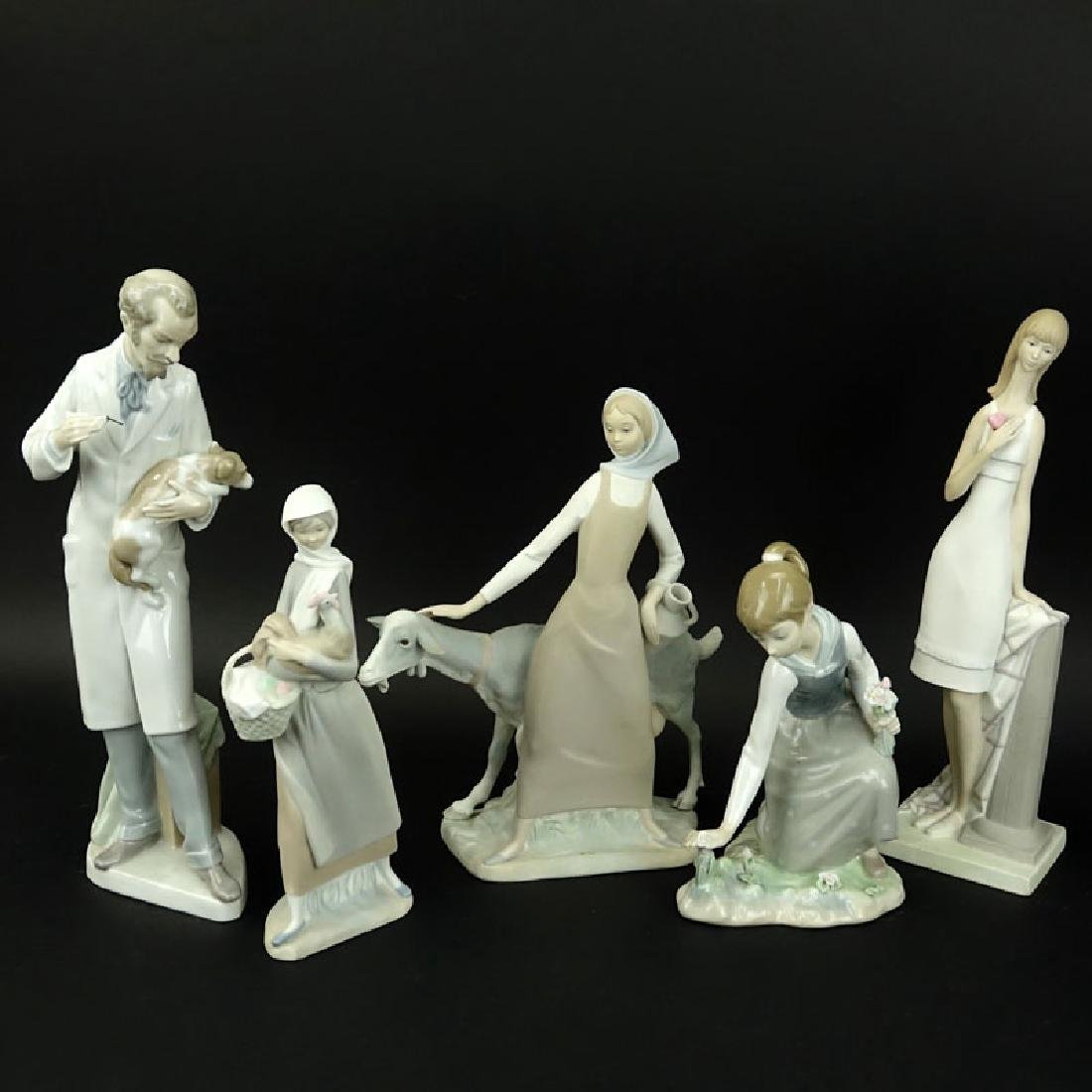 Collection of Five (5) Lladro Porcelain Figurines.