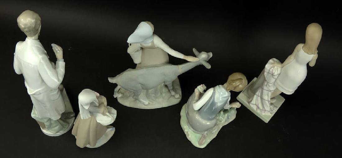 Collection of Five (5) Lladro Porcelain Figurines. - 3