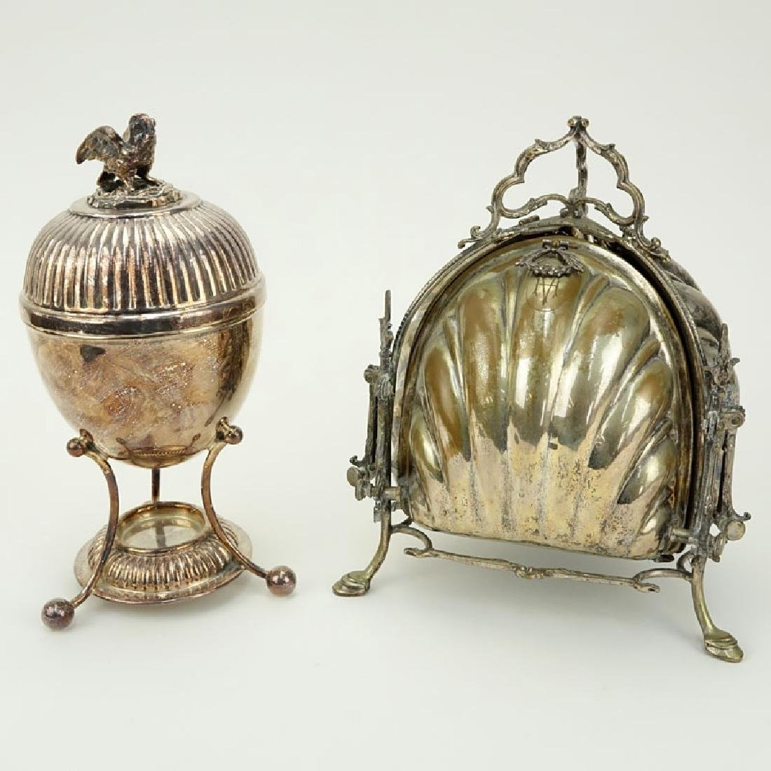 Two Pieces Victorian Silver Plate Serving Pieces.