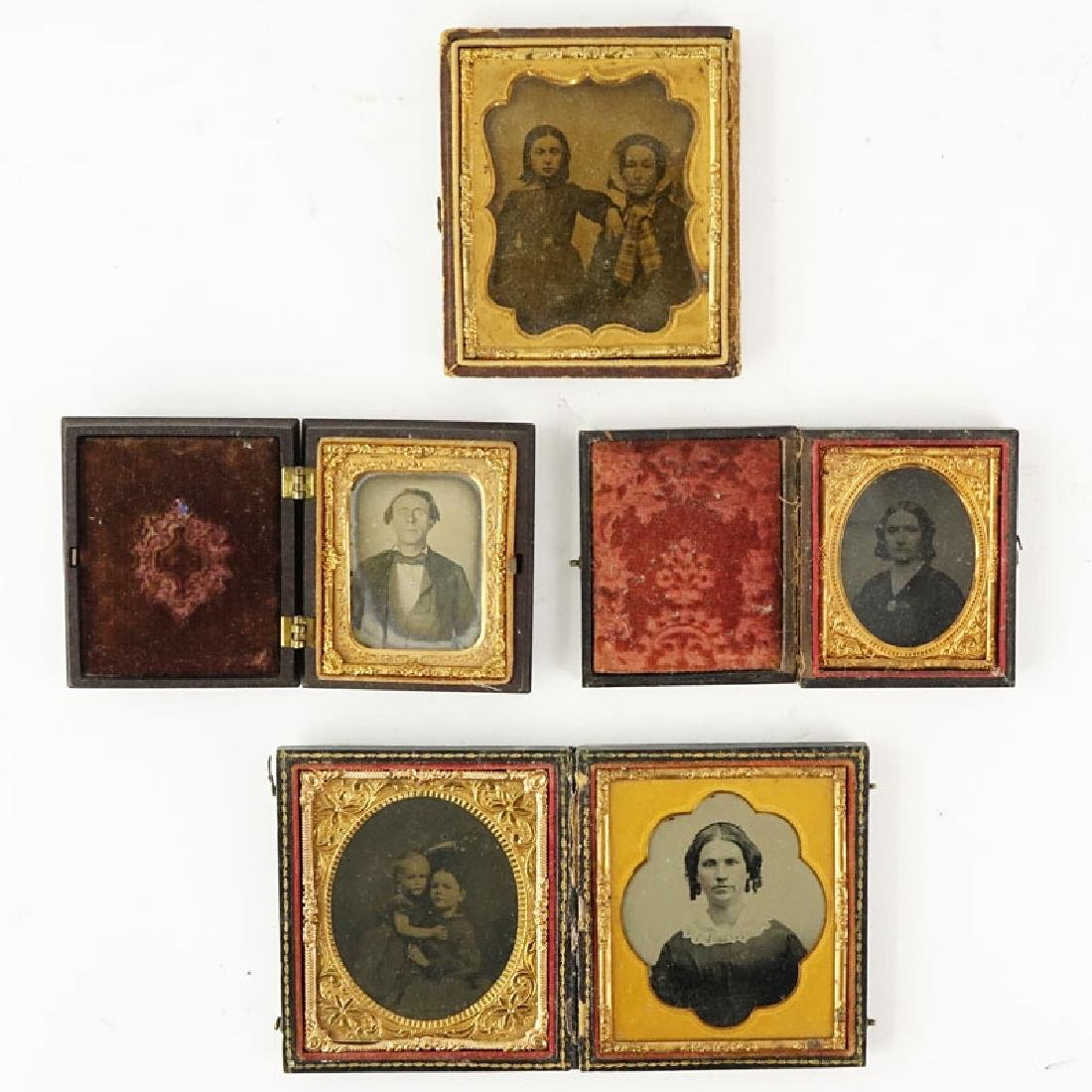 Lot of Four (4) 19th Century Cased Daguerreotypes. One