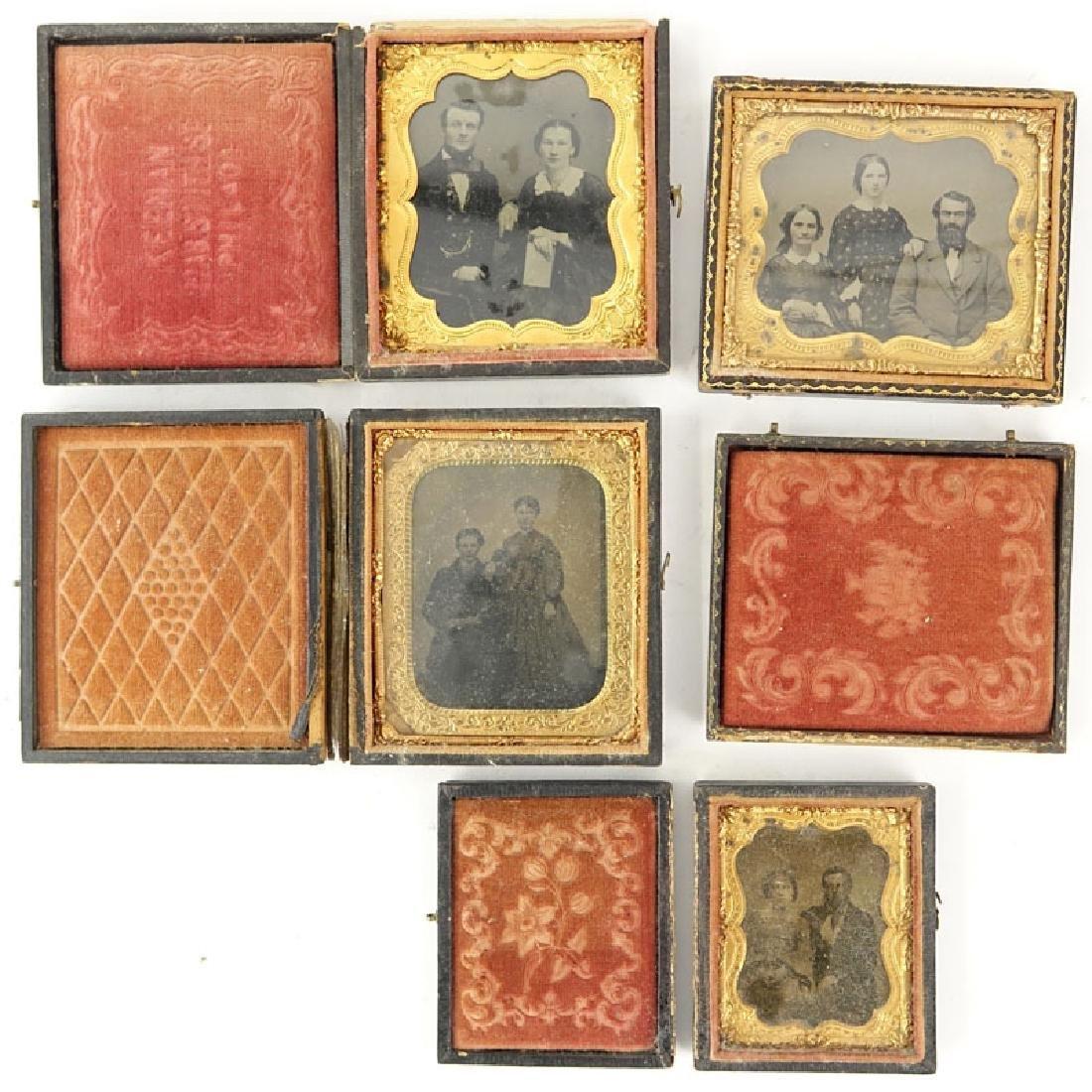 Lot of Four (4) 19th Century Cased Daguerreotypes.