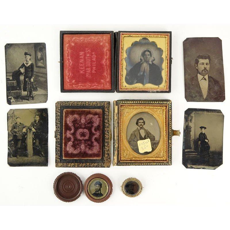 Lot of Eight (8) 19th Century Daguerreotypes. 3 in