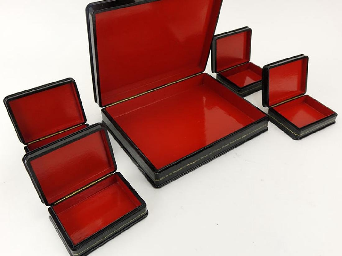 Large Russian Lacquer Box with Four (4) Smaller Boxes - 4