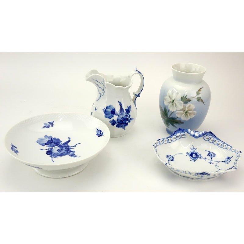 Four Pieces Royal Copenhagen Porcelain Table Top Items.