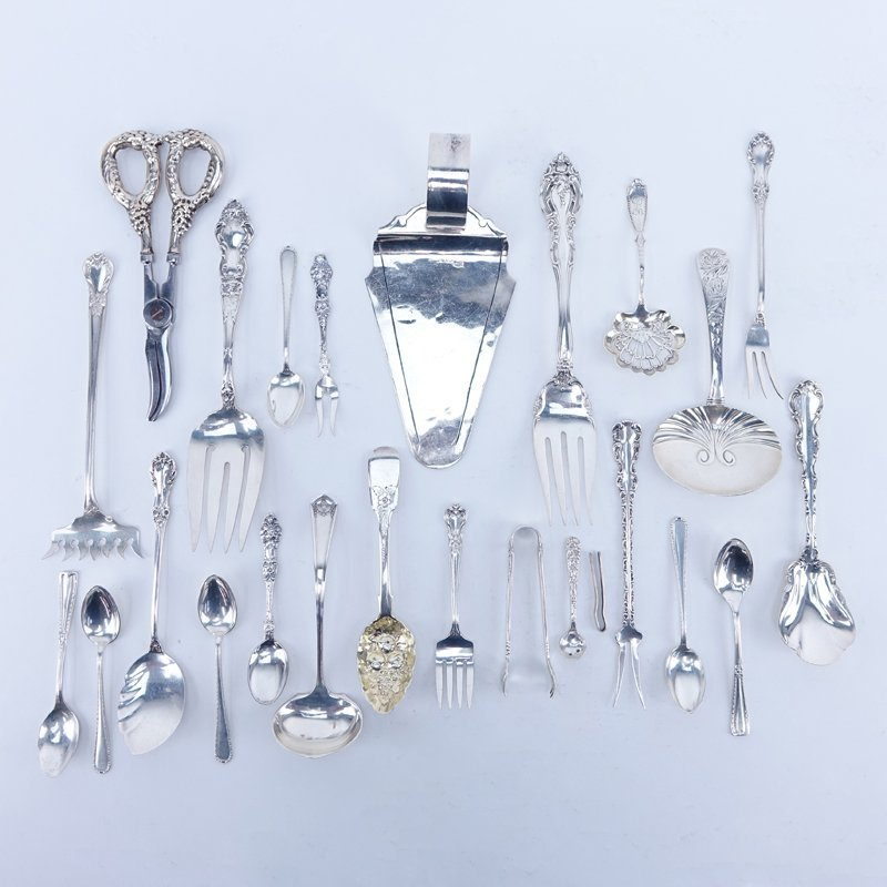 Lot of Sterling Miscellaneous Serving Pieces. Includes