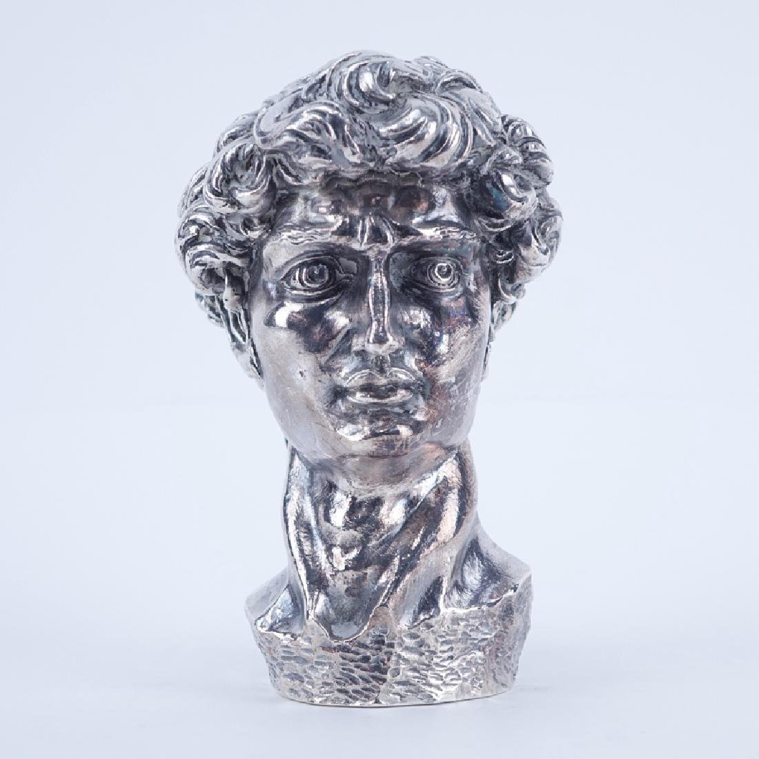 Sterling Silver Clad Bust Of David. Marked 925