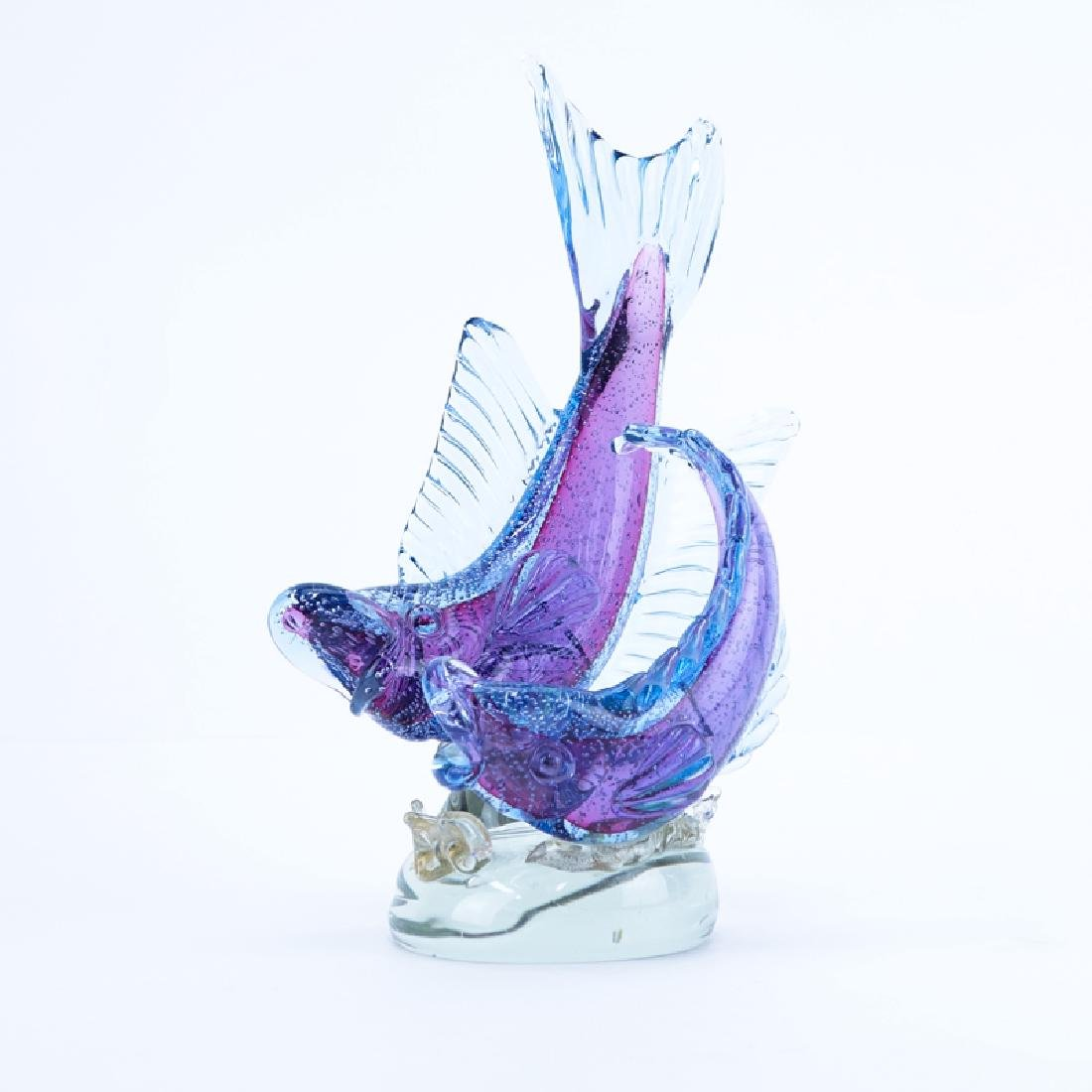 Vintage Murano Art Glass Fish Group. Unsigned. Good