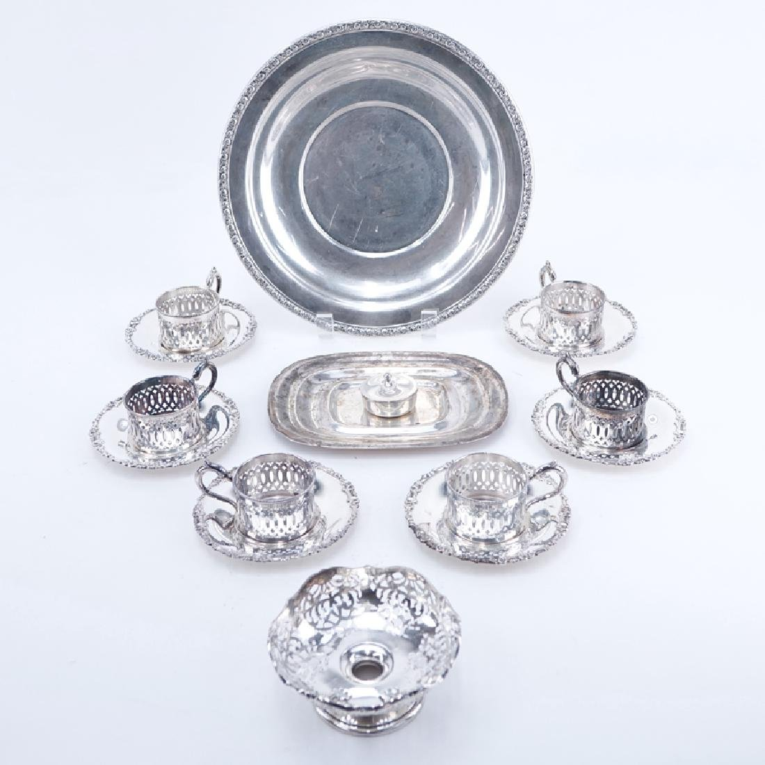 Collection Of Sterling Silver Table Top Items.