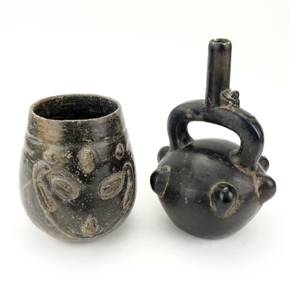 Two Pre-Colombian Style Vessels. Unsigned. Good