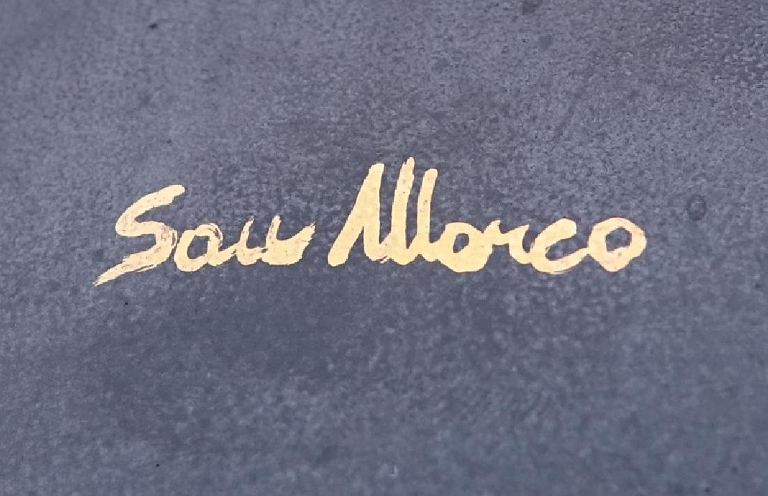 Large Italian San Marco Black Textured Ceramic and Gilt - 4