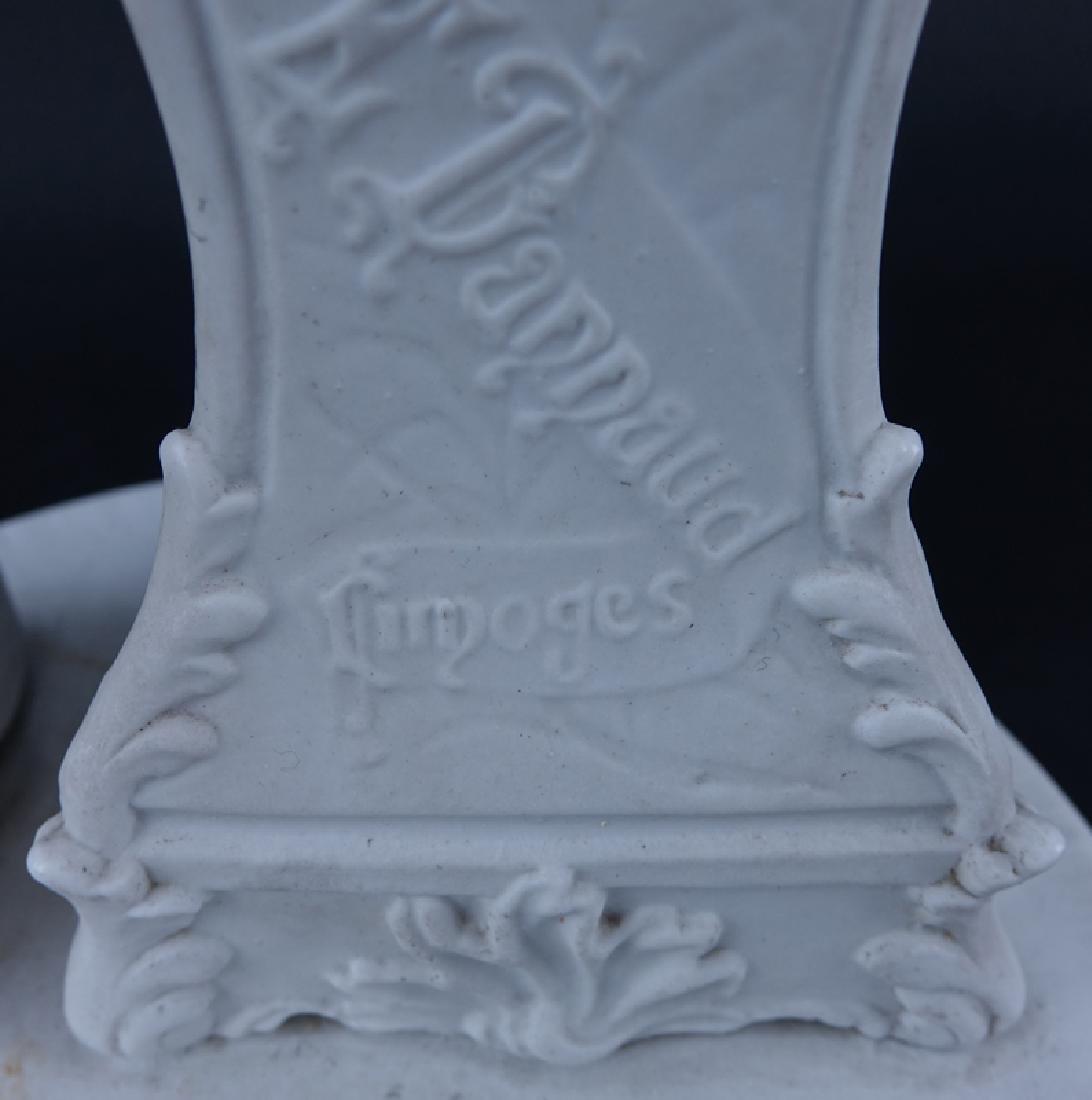 Large Perret & E. Dannaud, Limoges White Bisque - 4