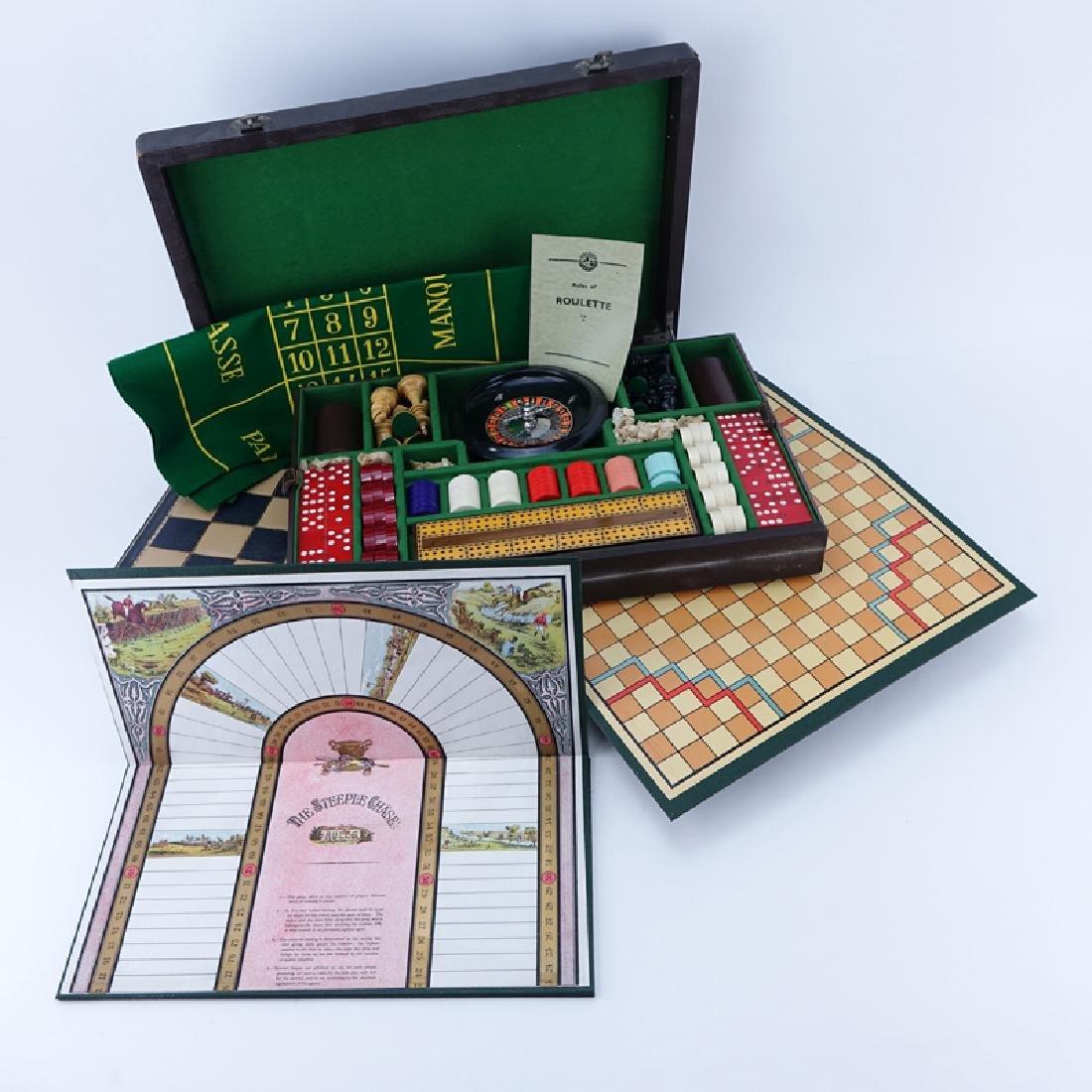 Vintage Ayrgames Multi-Game Set In Case. Includes