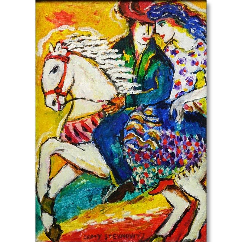 Zamy Steynovitz Polish/Israeli (1951 - 2000) Oil on