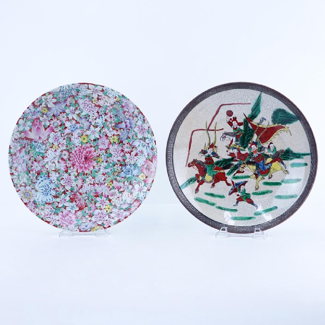 Chinese 1000 Flower Porcelain Charger and a Japanese