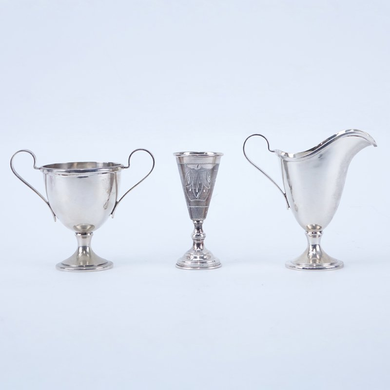 Schofield Sterling Silver Footed and Handled Creamer &
