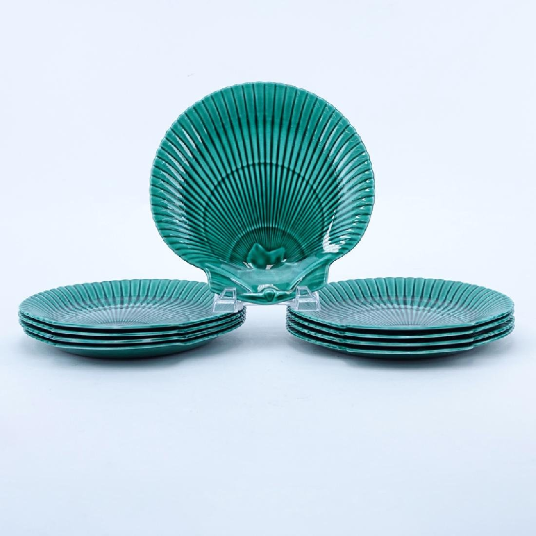 Nine (9) Wedgwood Majolica Etruria & Barlaston Green