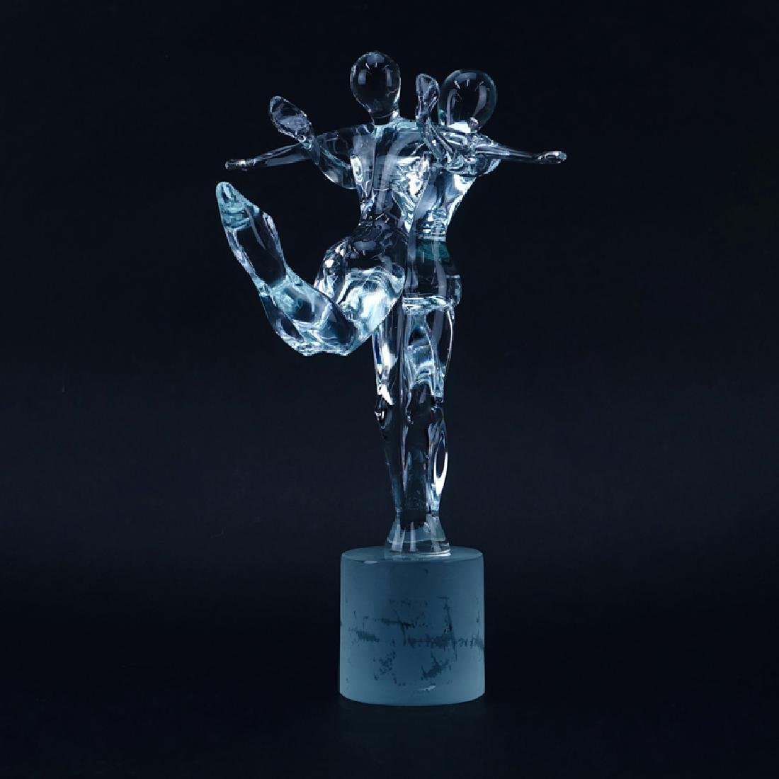 "Renato Anatra Murano Glass Sculpture ""Dancers"". The"