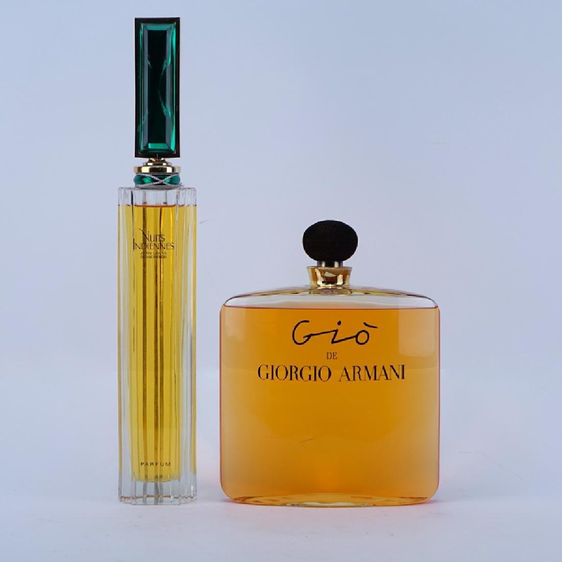 Two (2) Perfume Factices. Includes Gio de Giorgio
