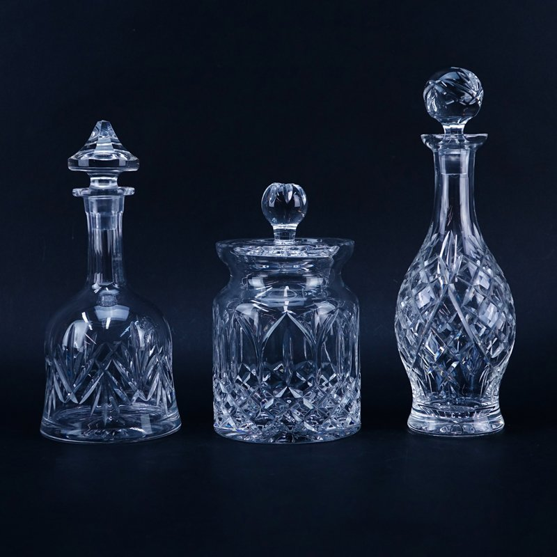Three (3) Waterford and Waterford Style Cut Crystal