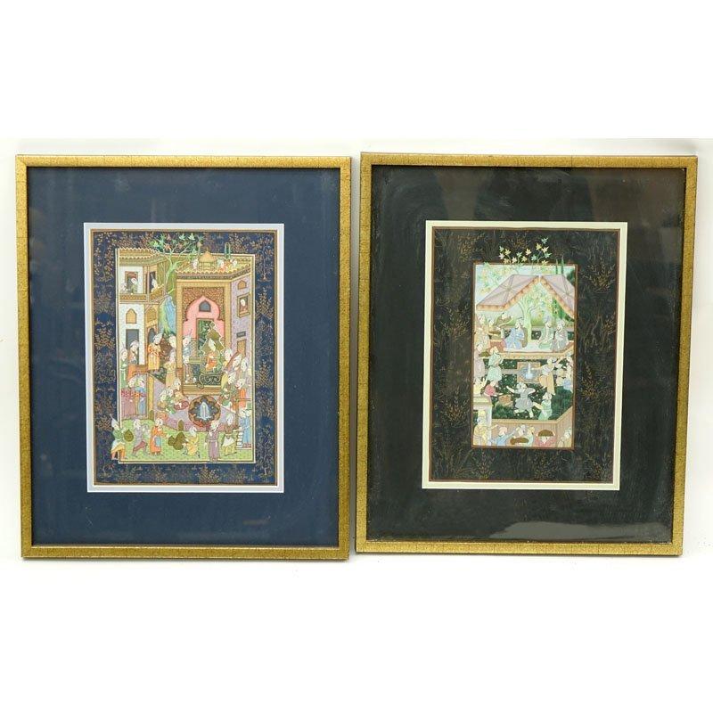 Two (2) Persian Miniature Oil On Canvas Board