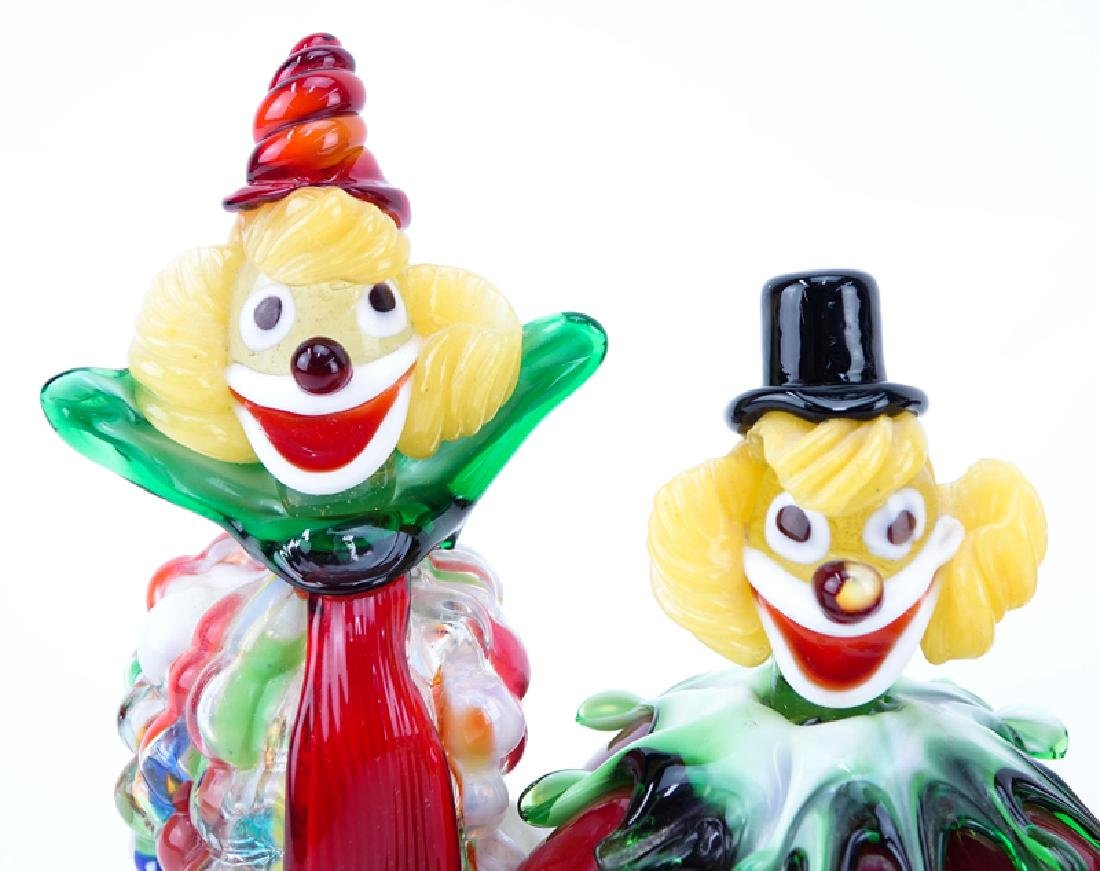 Collection Of Four (4) Vintage Murano Art Glass Clowns. - 2